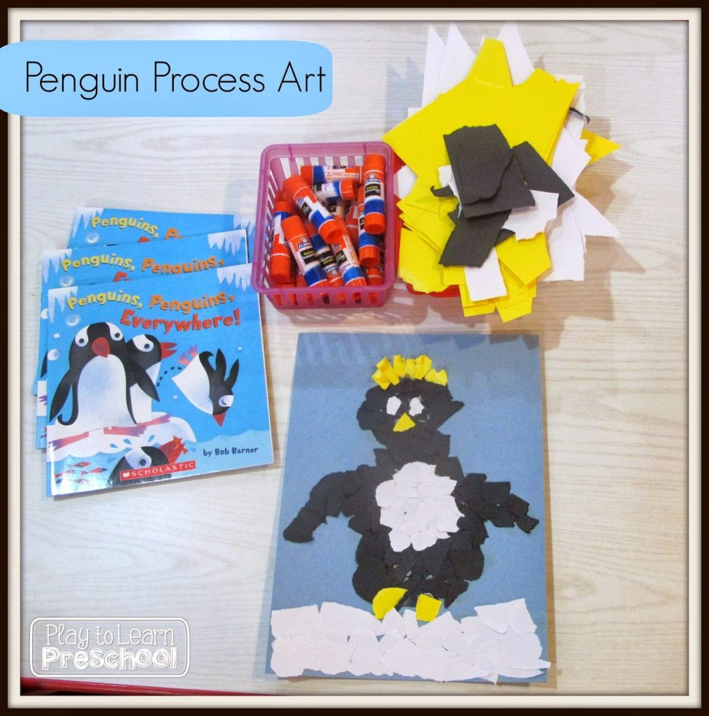 Penguin Process Art