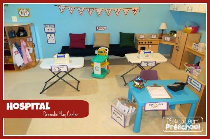 Juego dramático: en el hospital. Ideas para hacer un centro de juego simbólico de médicos, enfermeros/as y auxiliares.