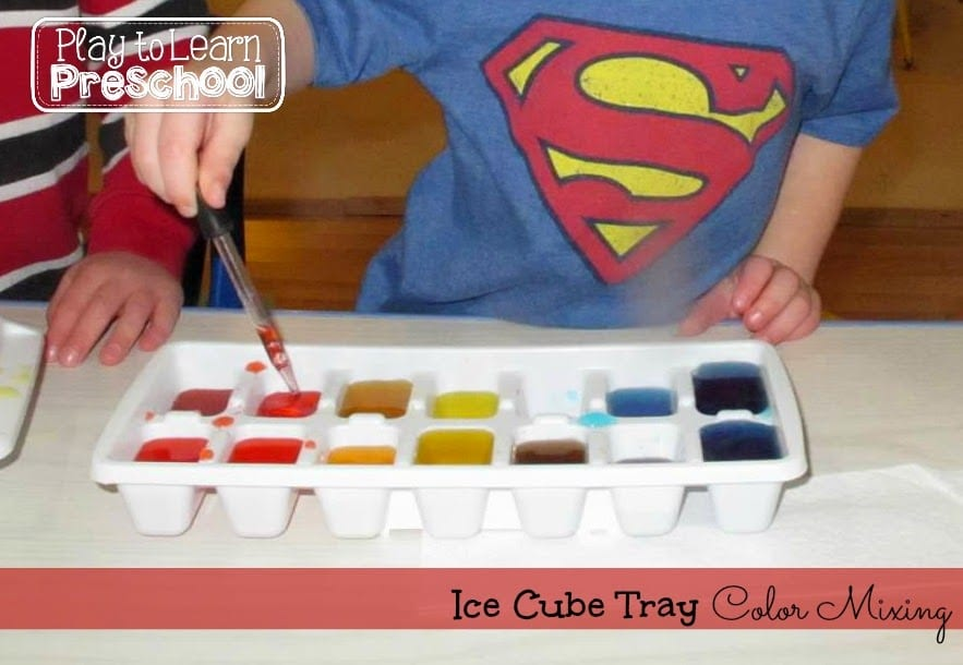 using an ice cube tray