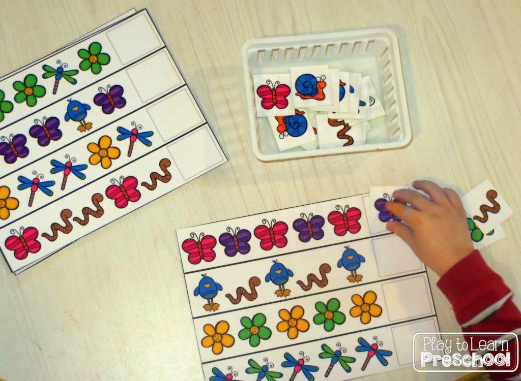Simple patterns for preschoolers