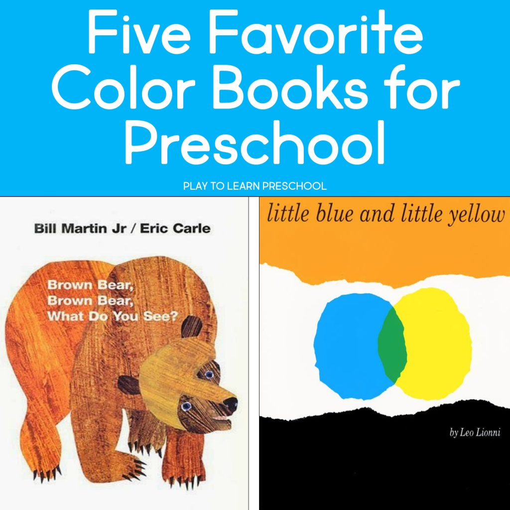 Favorite Color Books for Preschool