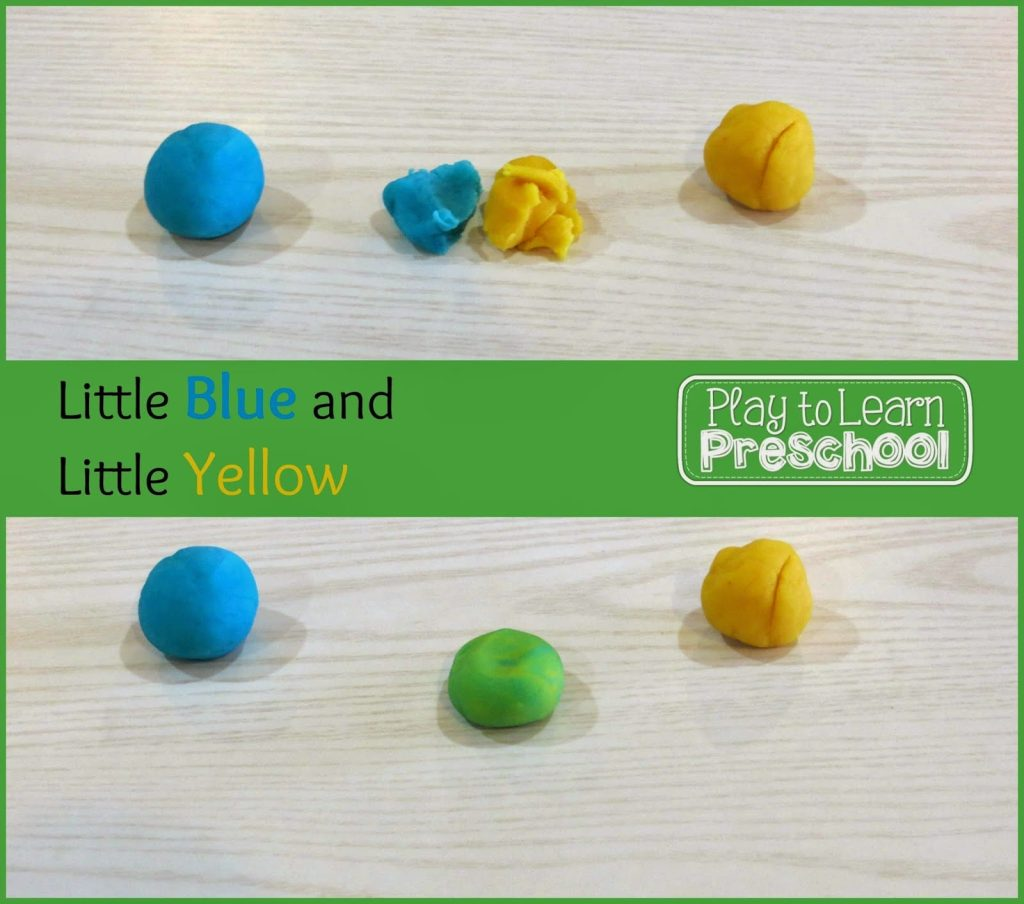 play dough mixing activity