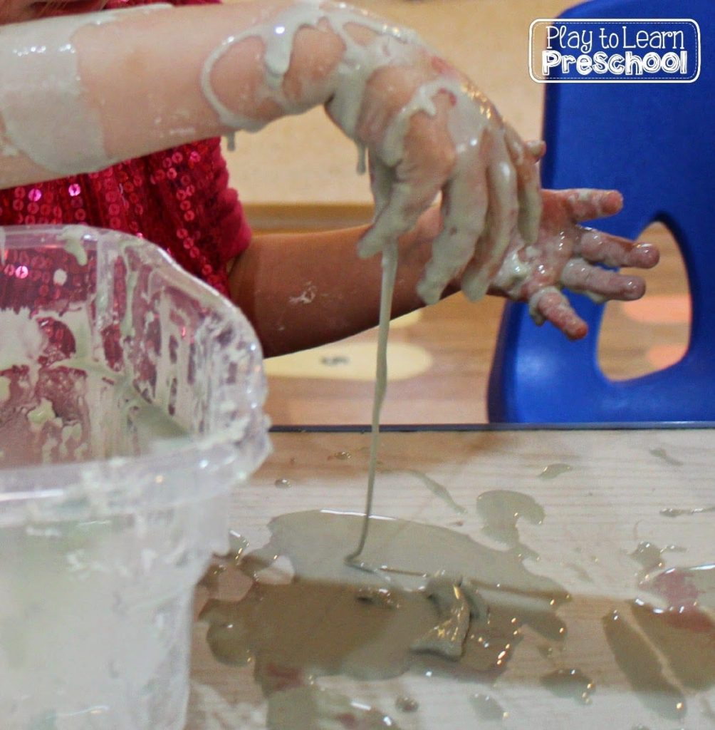solid liquid sensory play