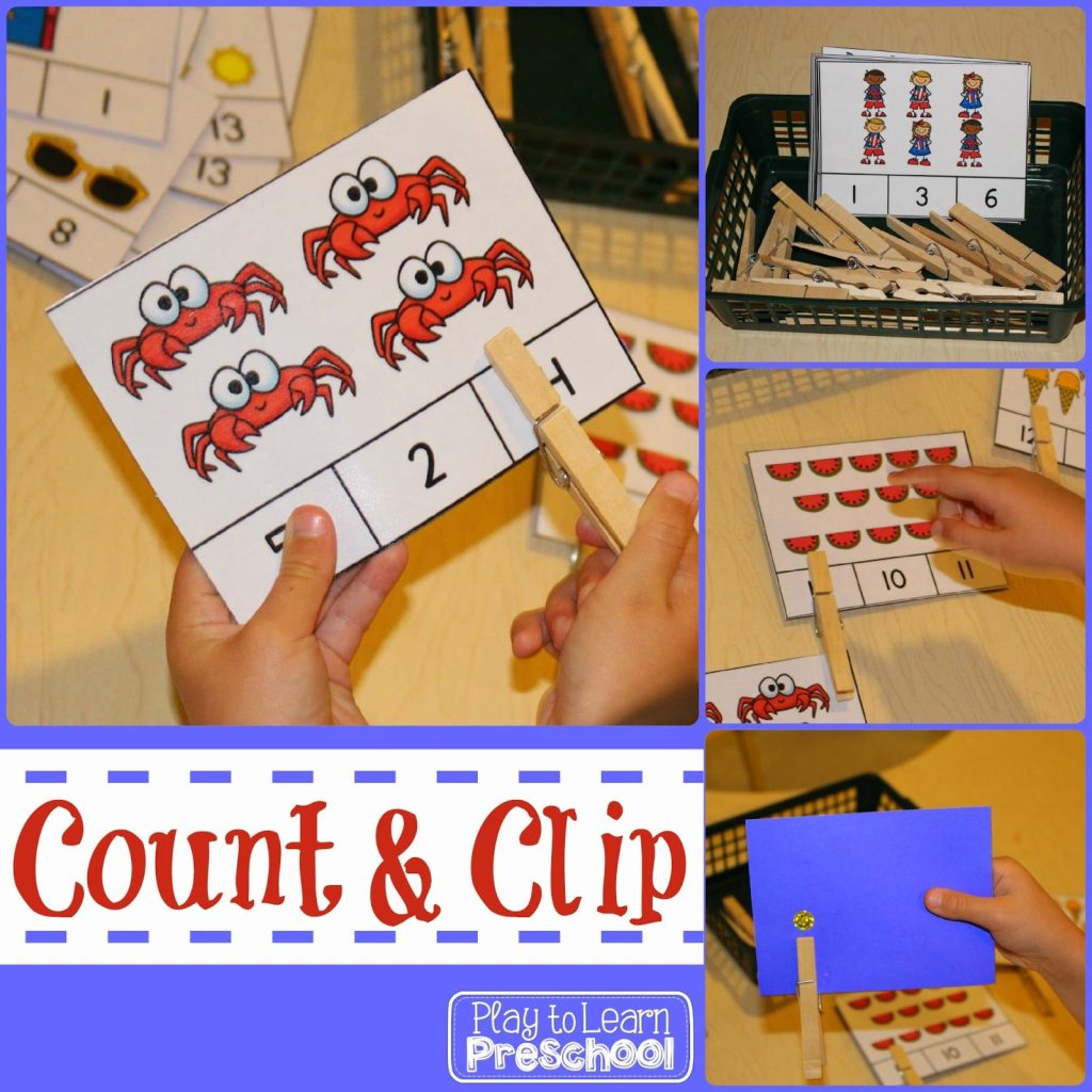 counting and number recognition to 16 - summer theme