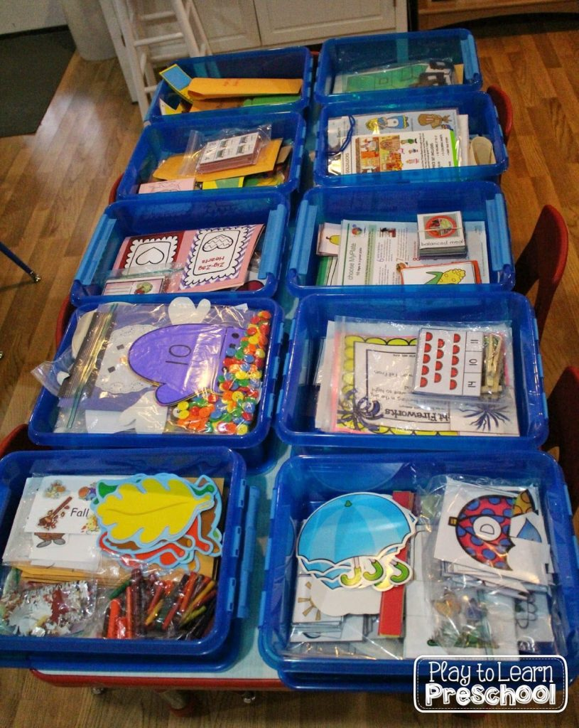 Classroom Equipment Ideas ~ Organizing preschool supplies