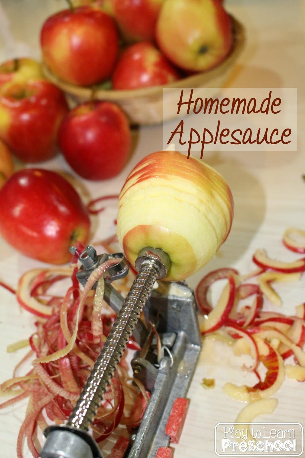 Making Applesauce Worksheets : Homemade applesauce play to learn