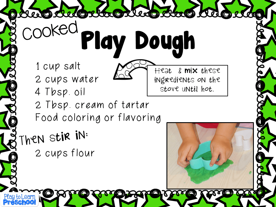 how to make playdough without flour recipe