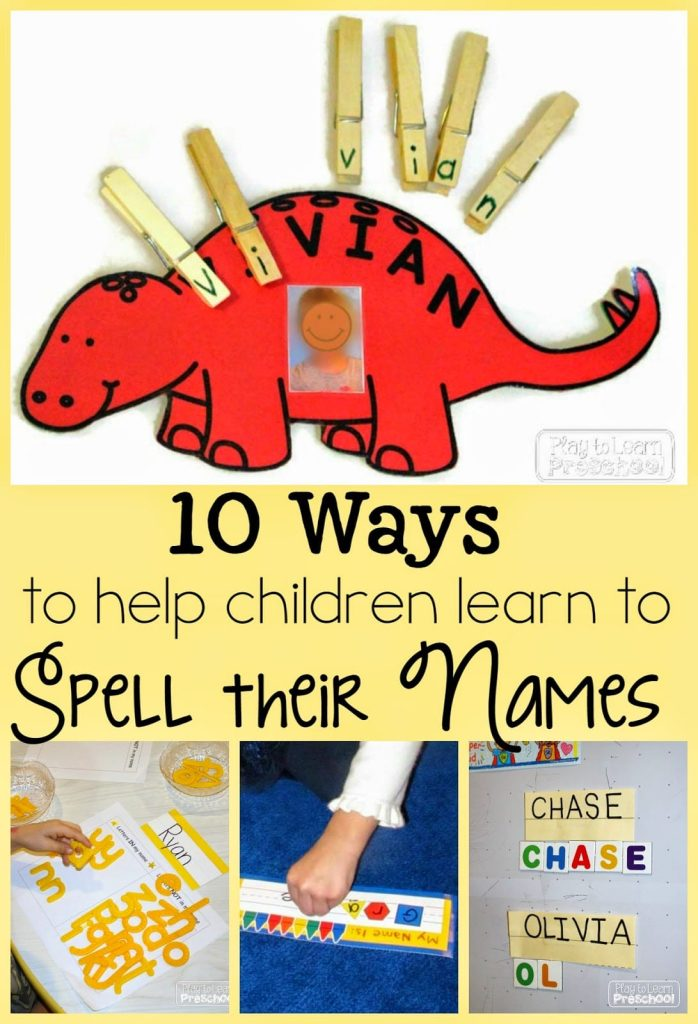 Writing Our Names Play To Learn