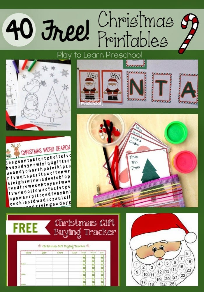 Christmas Preschool.Free Christmas Printables For Preschoolers Play To Learn