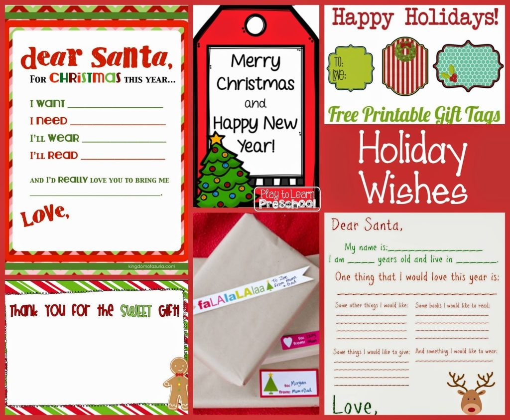 Free Christmas Printables for Preschoolers - Play to Learn