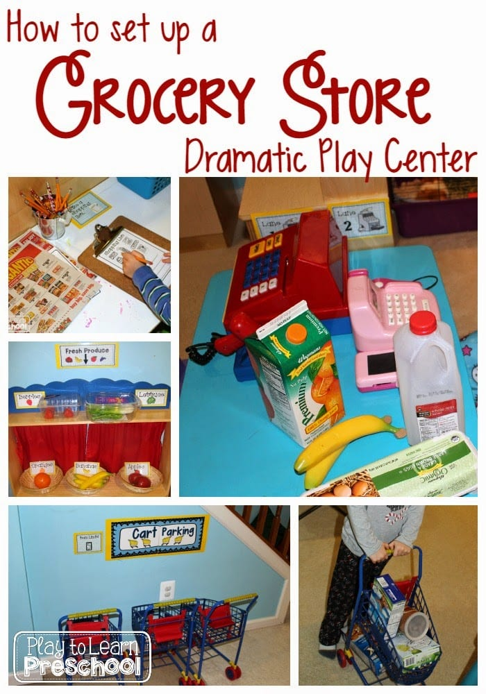 Grocery Store Dramatic Play - Play to Learn