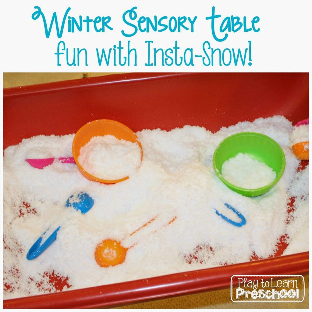 Insta-Snow Sensory Table