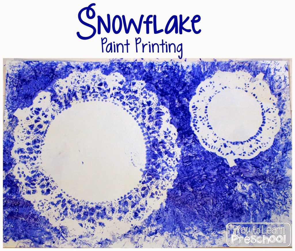 Snowflake Paint Printing