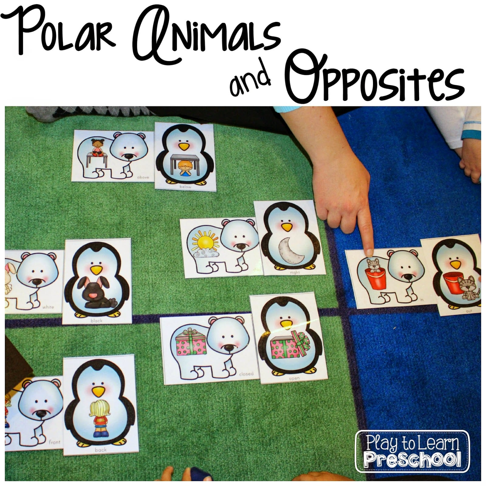 Animal Opposites Friends Alphaprints Polar Animals Unit Play To Learn