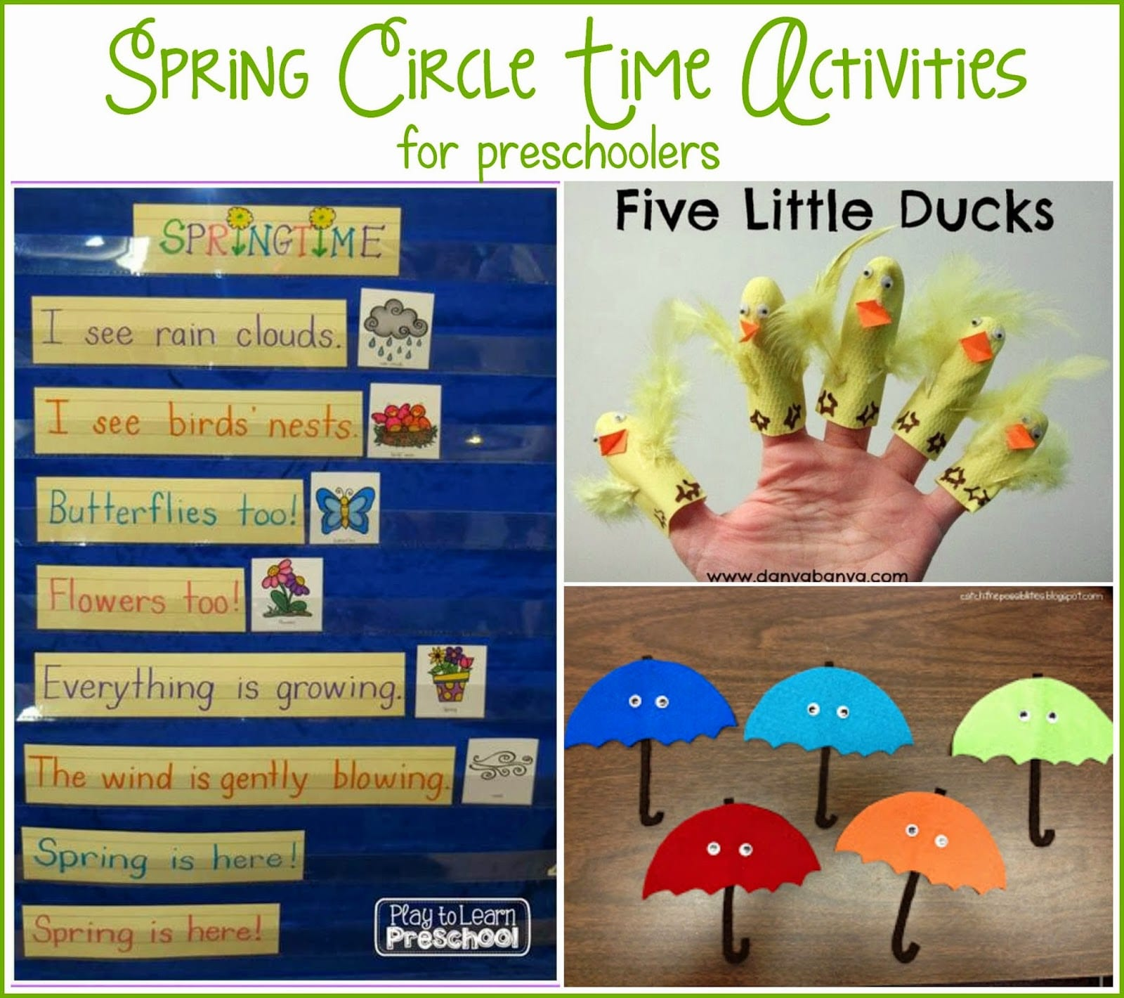 Spring Circle Time Play To Learn