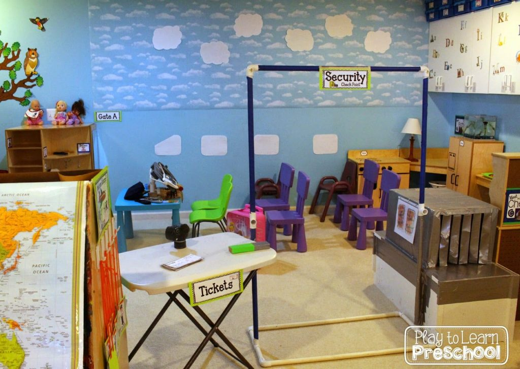 Airport Airplane Dramatic Play Center For Preschoolers
