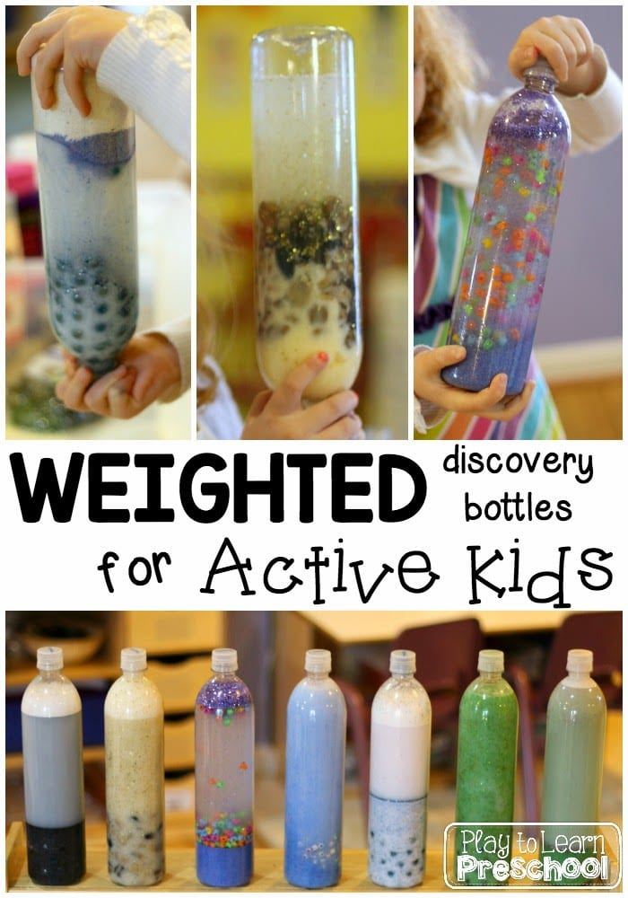 Weighted sensory bottles