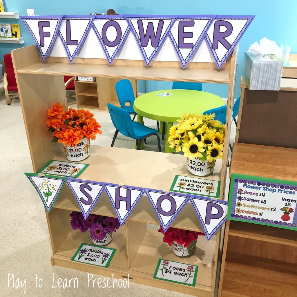 Flower Shop Dramatic Play Center for Preschoolers
