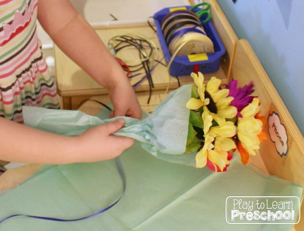 virágboltos játék gyerekeknek