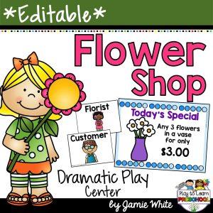 Flower Shop Garden Dramatic Play Center for Preschoolers