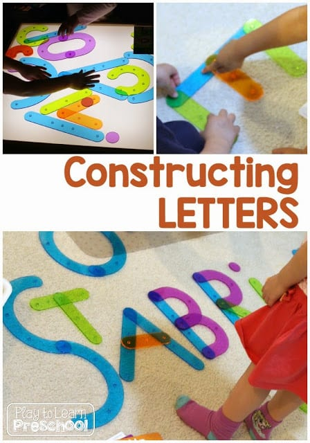 Letter Construction on the Light Table