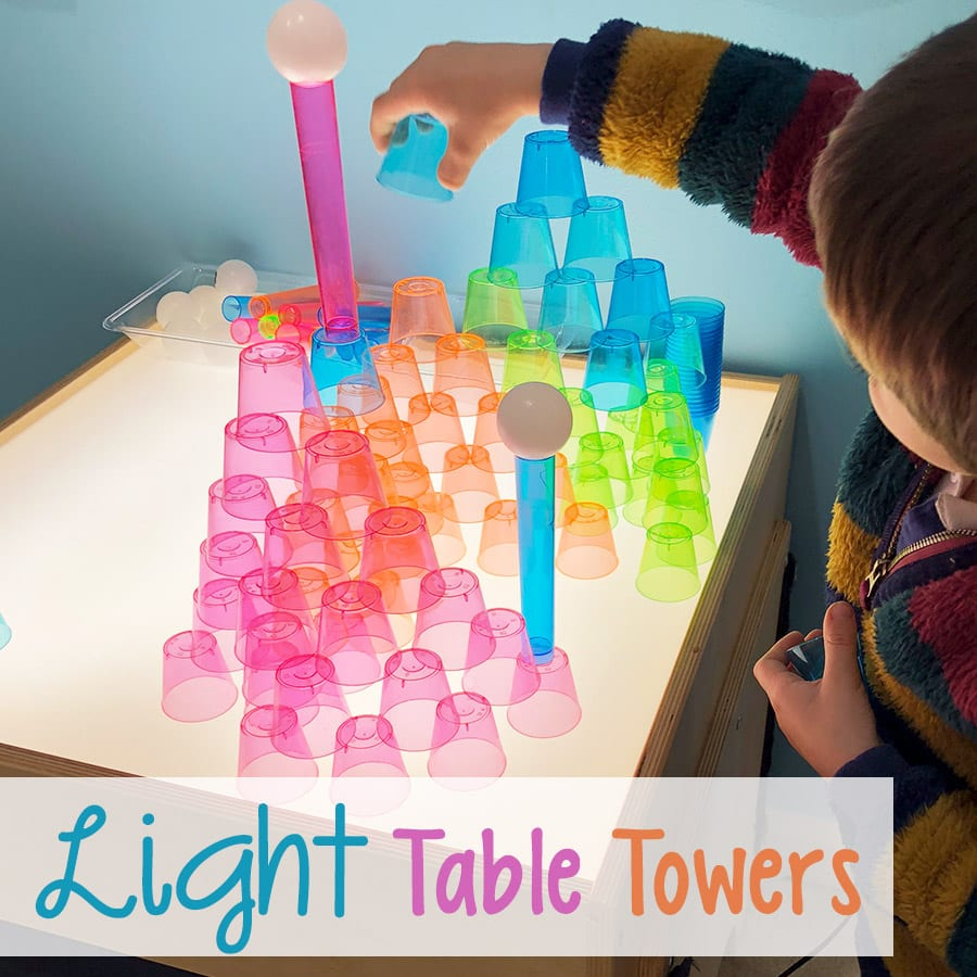 Light Table Towers STEM Building Challenge