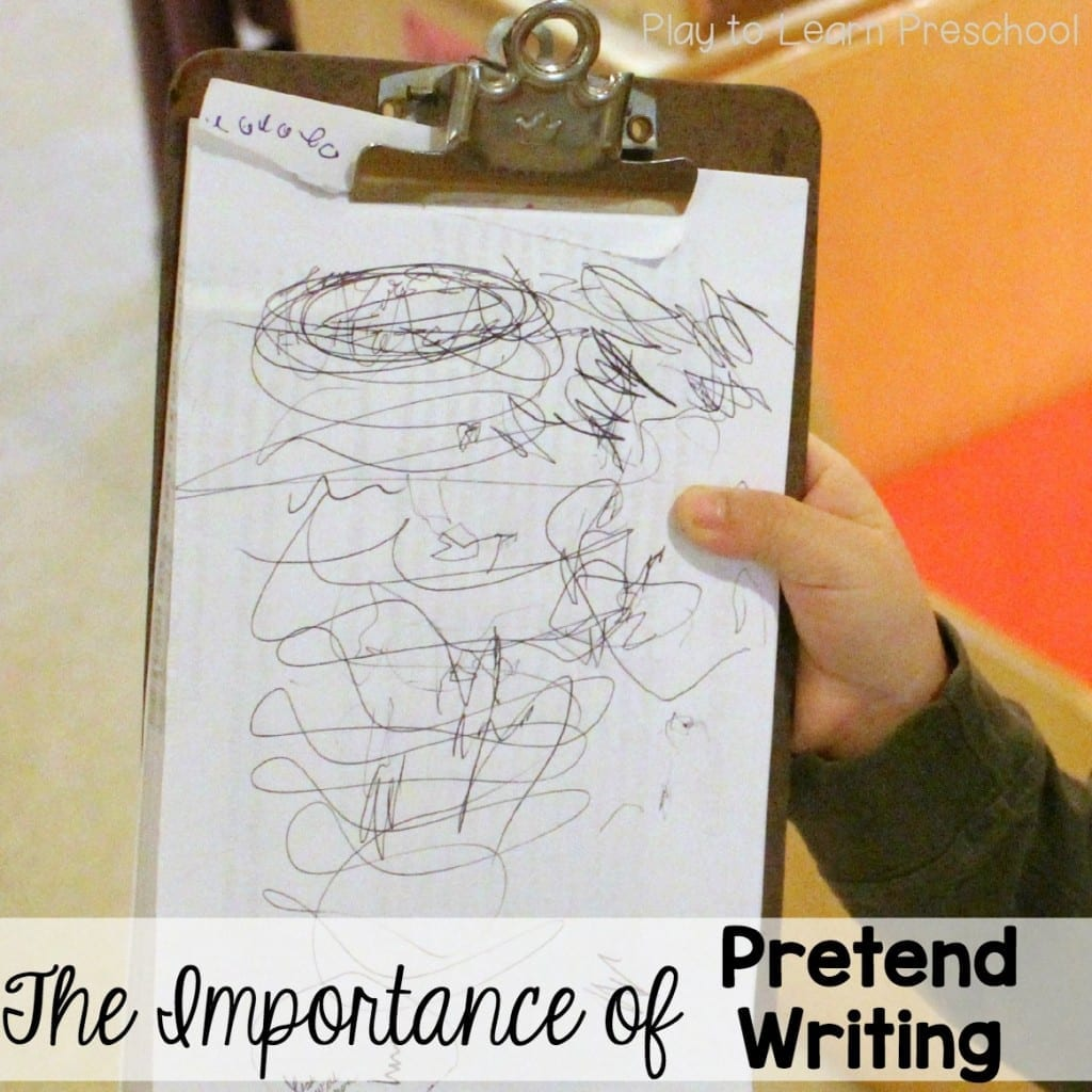 The Importance of Pretend Writing