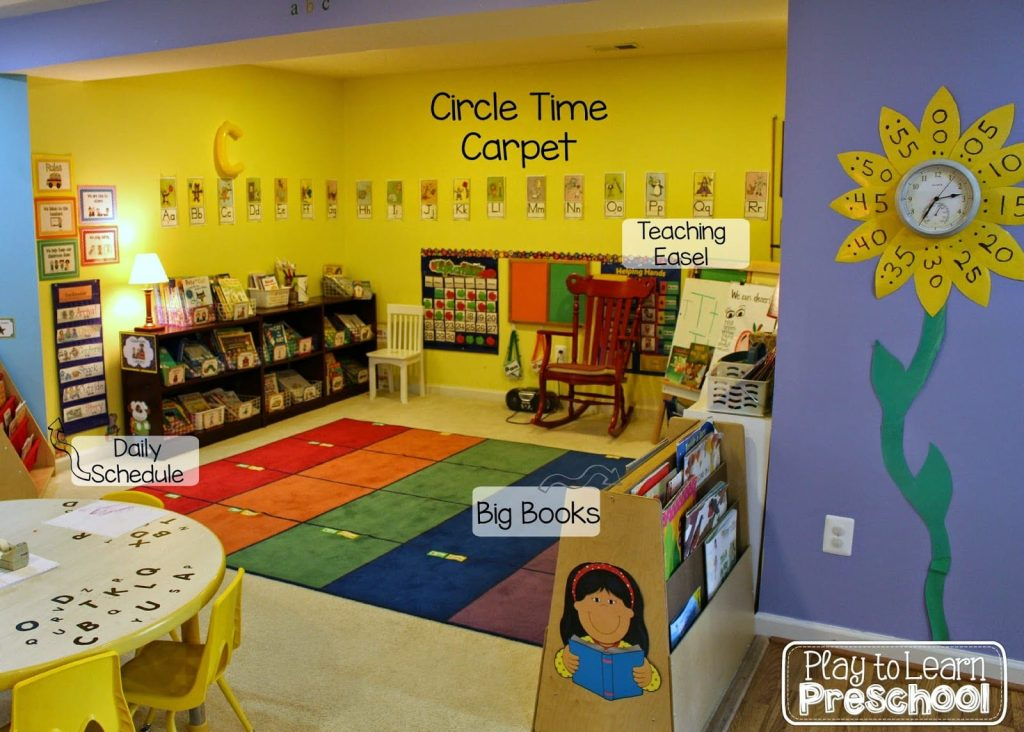Classroom Library Ideas Kindergarten ~ Play to learn preschool classroom tour and design ideas