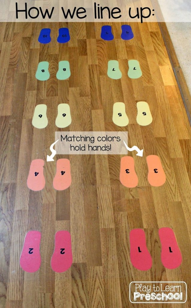 Classroom Line Up Ideas ~ Play to learn preschool classroom tour and design ideas