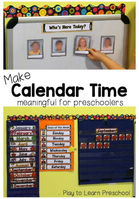 Calendar Games For Kindergarten : Make calendar time meaningful for preschoolers