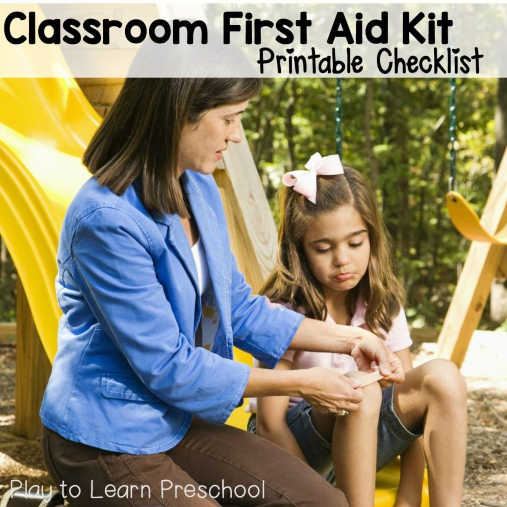 First Aid Kit: Printable Checklist
