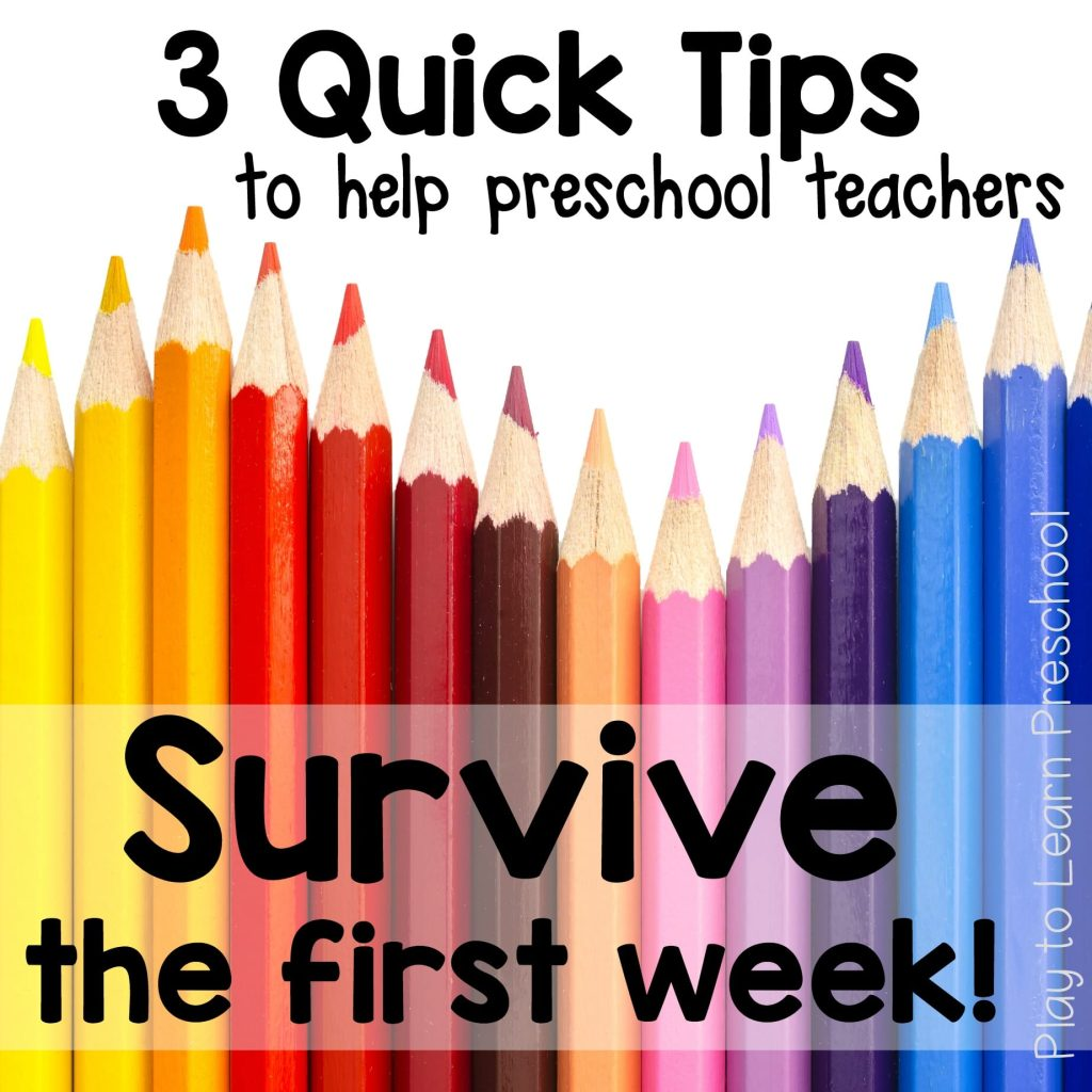 3 Quick Tips for the First week of Preschool