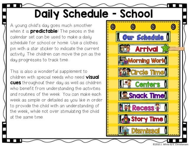 Kindergarten Calendar Time Lesson Plan : Make calendar time meaningful for preschoolers