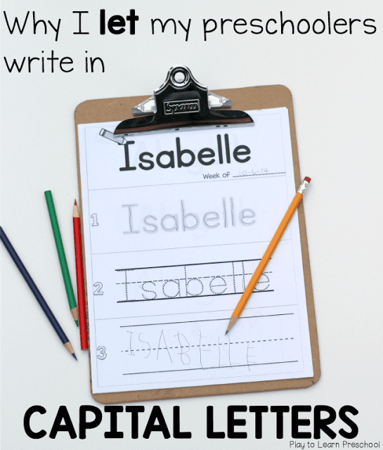 Should Children Write their Names with Capital Letters?