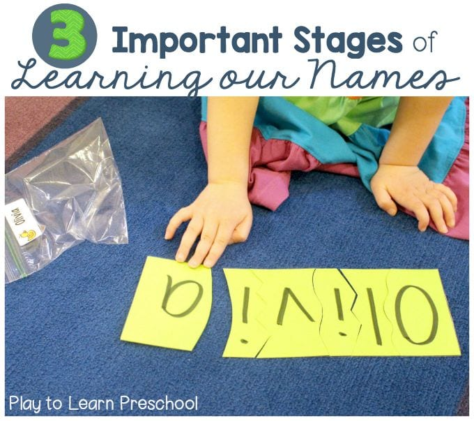 3 Stages of Name Learning