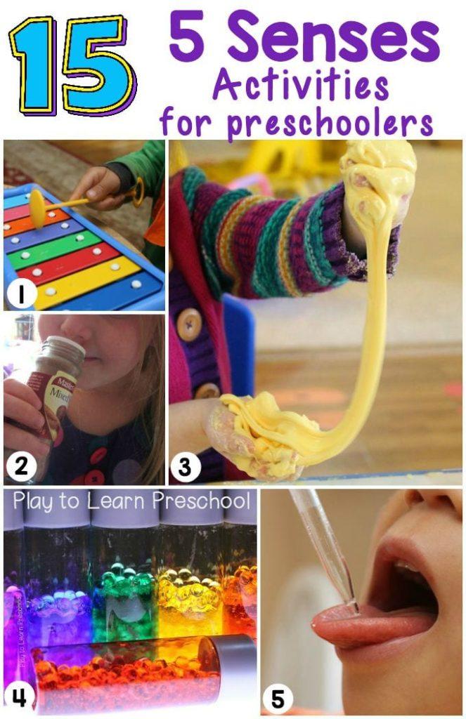 5 Senses for Preschoolers