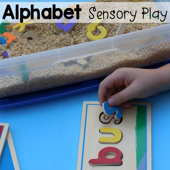 Alphabet Sensory Play