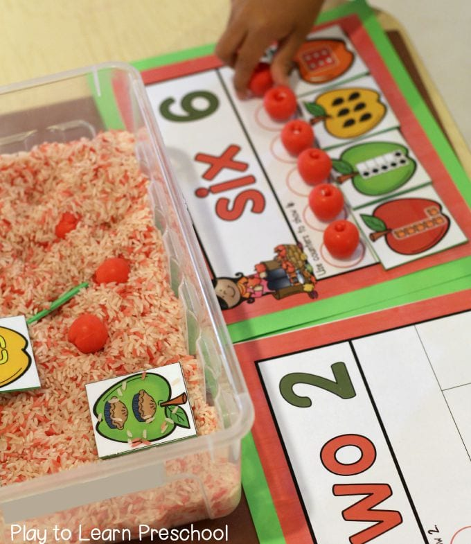 Apple Counting Mats