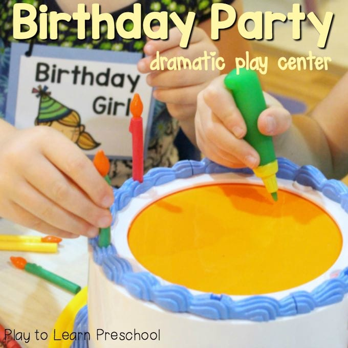 Birthday Party Dramatic Play