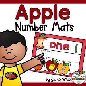 Apple Number Mats