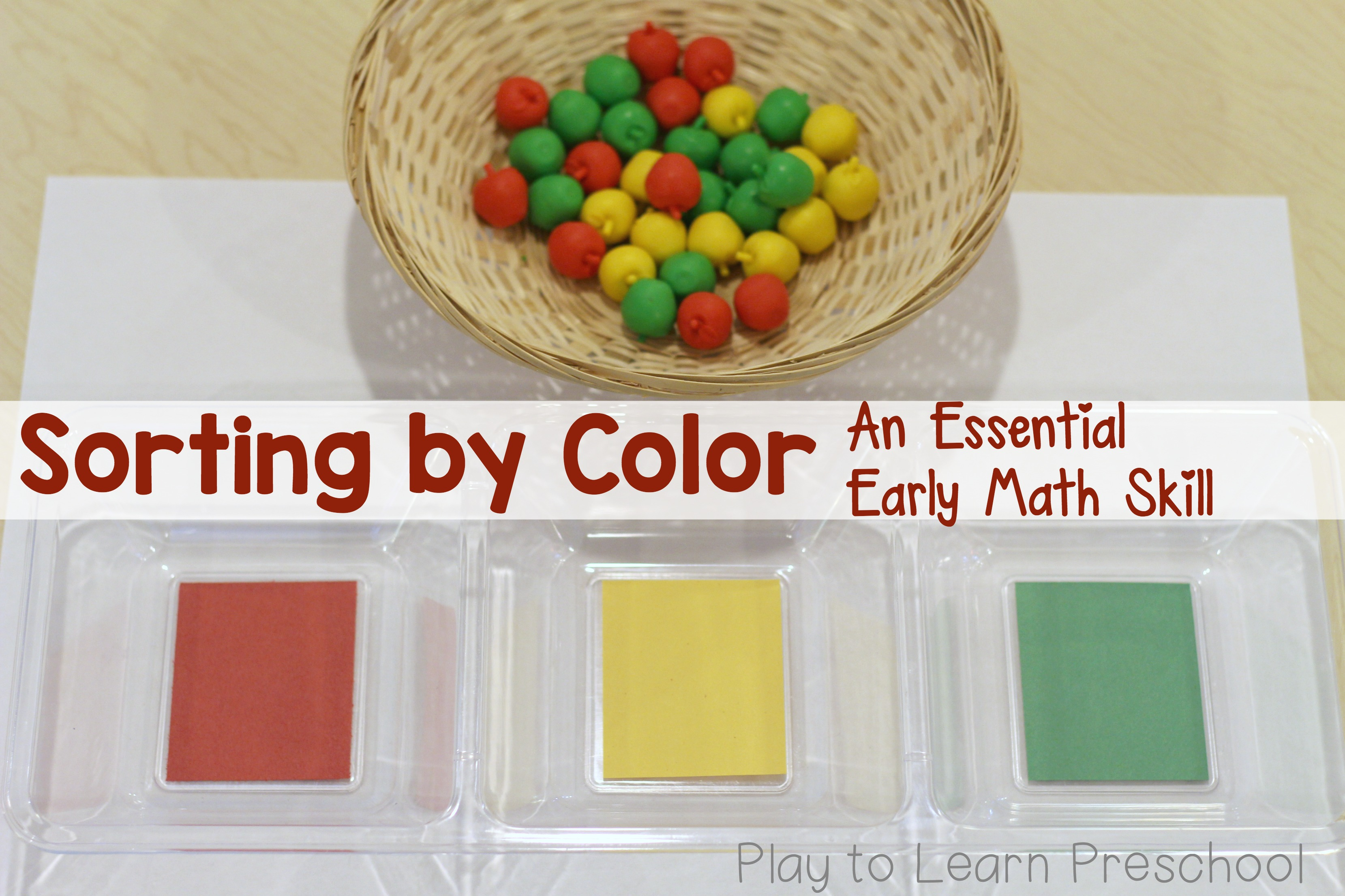 Sorting By Color An Essential Early Math Skill