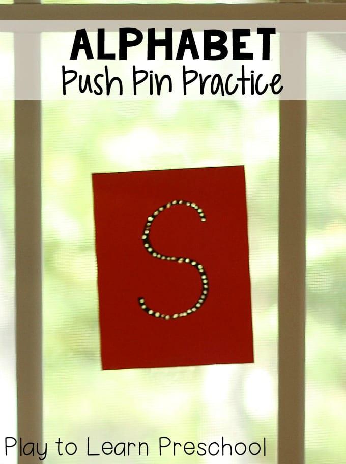 Alphabet Push Pin Practice