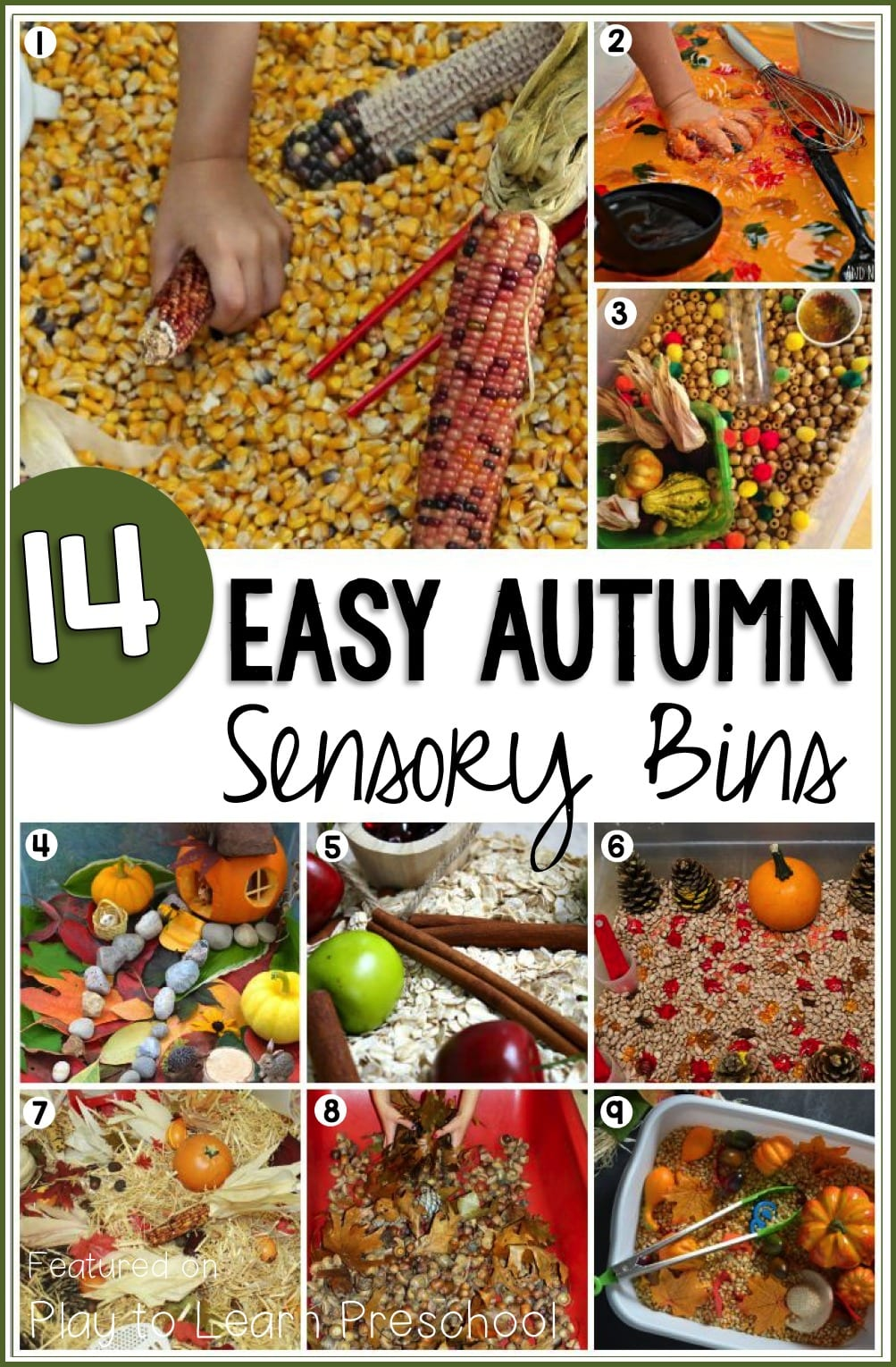Autumn Sensory Bins