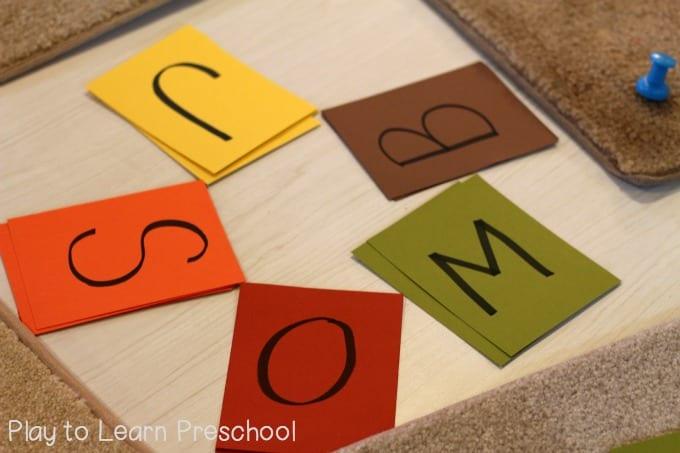 Letter Tiles set up