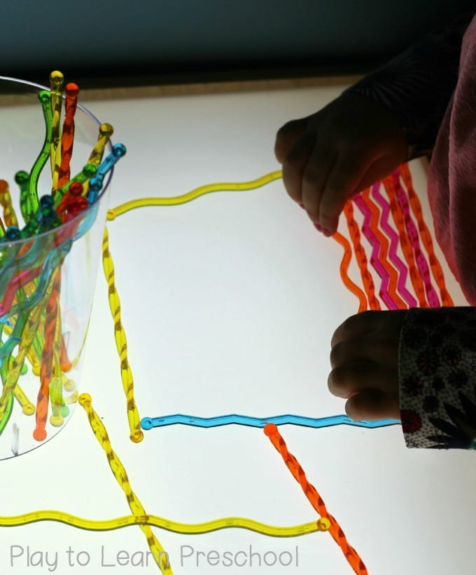 Light Table Shape Art