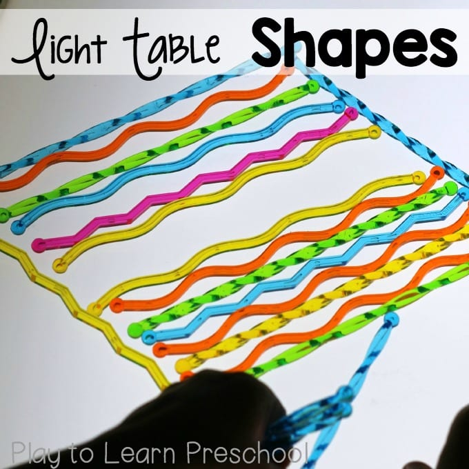 Light Table Shapes