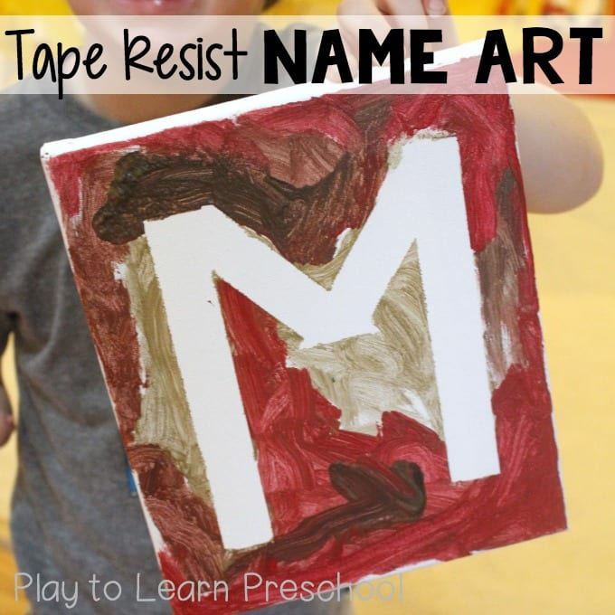 Tape Resist Name Art