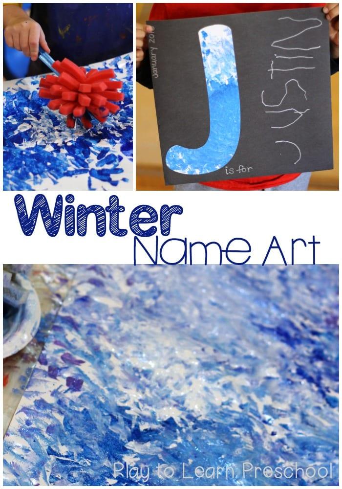 Winter Name Art Pin