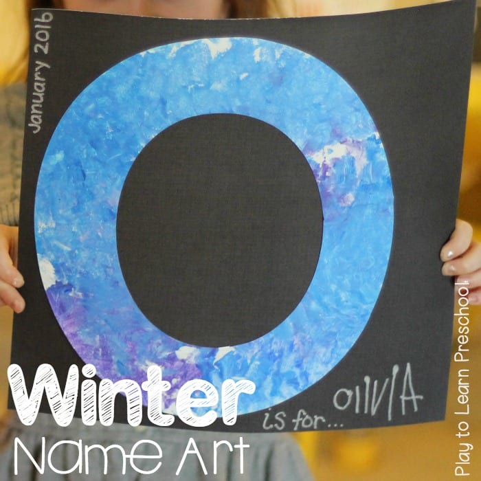 Winter Name Art