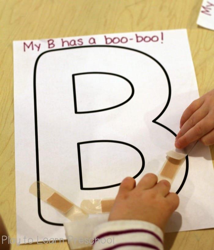B has a boo boo